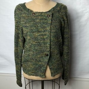 Free people nubby tweed Button front sweater